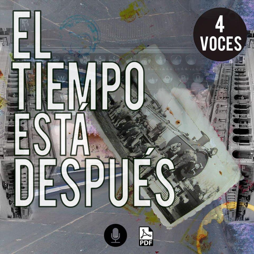 partitura para coro a 4 voces gratis de Fernando Cabrera - Uruguay El tiempo está después arreglo coral por www.MiloLagomarsino.com