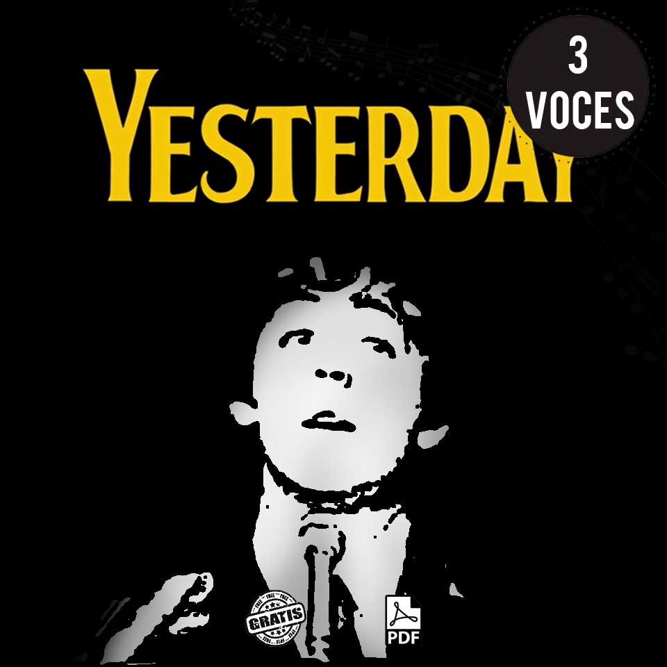 Yesterday partitura para coro a 3 voces gratis the Beatles por Milo Lagomarsino