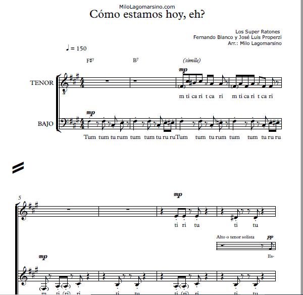 Partituras corales pdf a 4 voces
