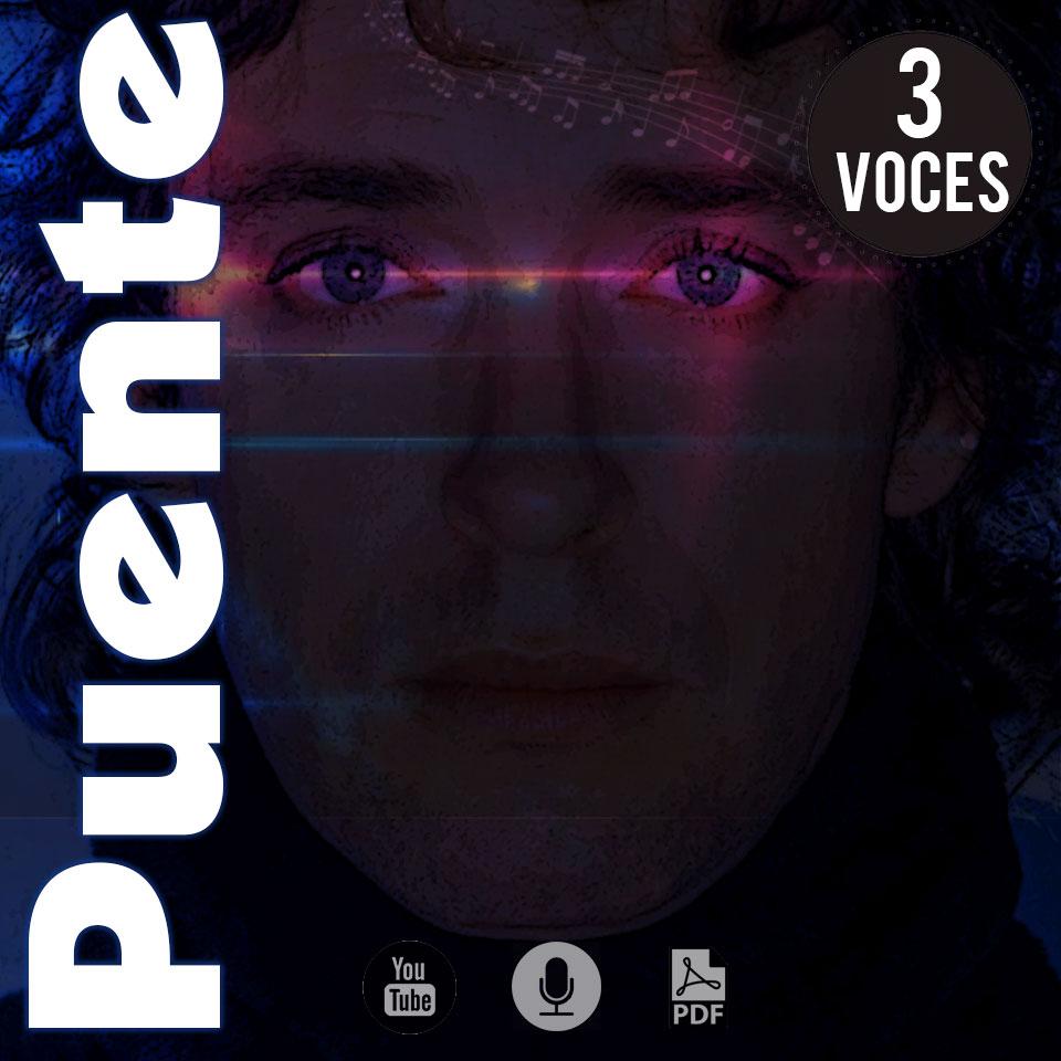 Partitura de Gustavo Cerati para coro a 3 voces música coral argentina